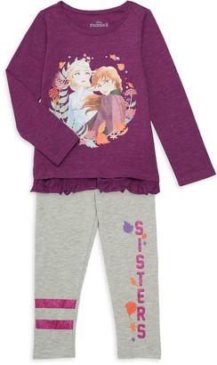 Disney Little Girl's 2-Piece Cotton-Blend Top & Leggings Set