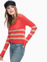 Splendid Halloway Mesh Sweater Stripe Pullover