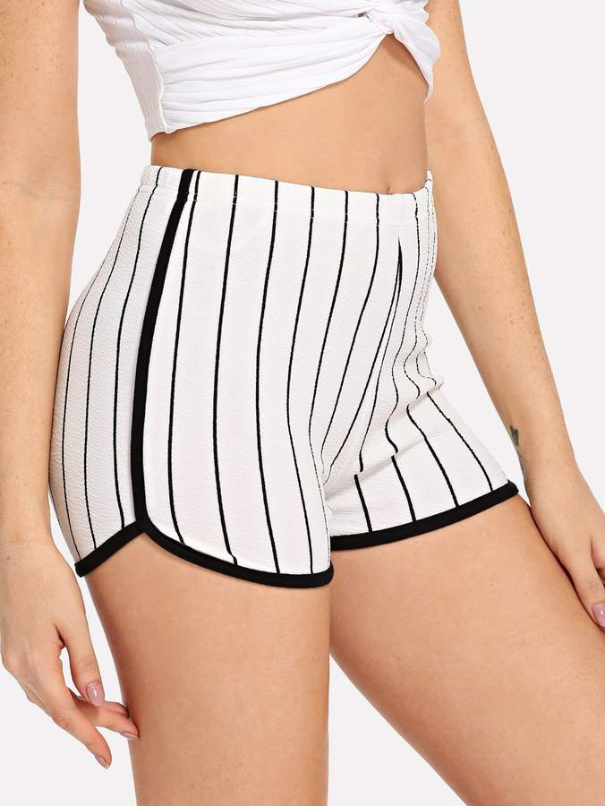 Shein Waist Elastic Striped Shorts