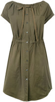 Theory gathered waist shirt dress - women - Cotton - 0