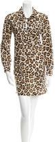 Equipment Leopard Print Mini Dress