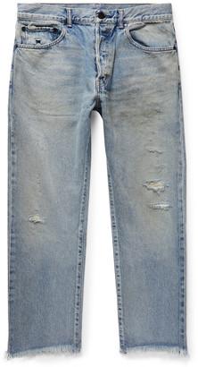 John Elliott The Kane 2 Cropped Distressed Denim Jeans