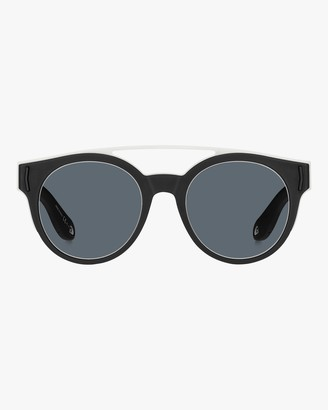 Givenchy Stainless Steel Rubber Round Logo Sunglasses