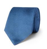 HUGO BOSS 7.5cm Woven Silk Tie - Blue