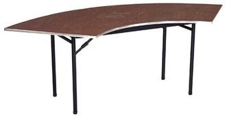 "Semi Circle Folding Table AmTab Manufacturing Corporation Size: 29"" H x 60"" W x 30"" D"