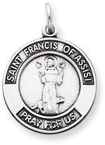 1928 Gold and Watches Sterling Silver Antiqued Saint Francis of Assisi Medal