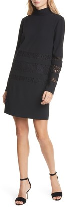 Pesaro Lace Detail Long Sleeve Shift Dress