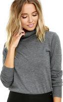 LuLu*s Comin' Up Cozy Burgundy Turtleneck Sweater