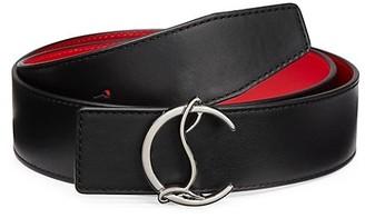 Christian Louboutin Logo Leather Belt