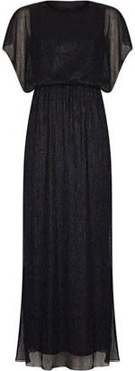 Yumi Vertical Shimmer Maxi Dress