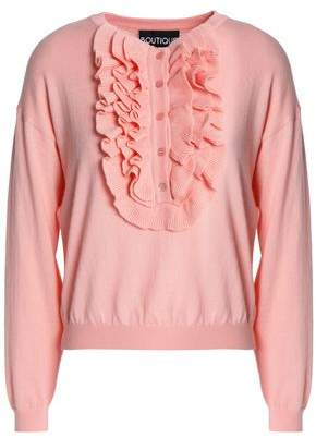 Moschino Ruffle-Trimmed Wool And Cotton-Blend Sweater