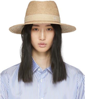 Maison Michel Beige Straw Charles Hat