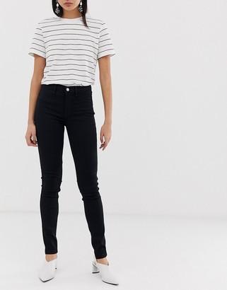 Selected clean skinny jean in black