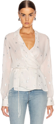 Amiri Stars Fil Coupe Wrap Top in Ivory | FWRD