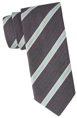Eton Diagonal Stripe Wool Silk Tie