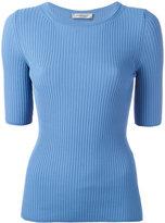 Sportmax ribbed knit T-shirt - women - Polyamide/Viscose - L
