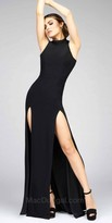 Mac Duggal Fit and Flare Double Slit Evening Dress