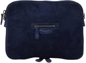 Balenciaga Navy Suede Clutch bags