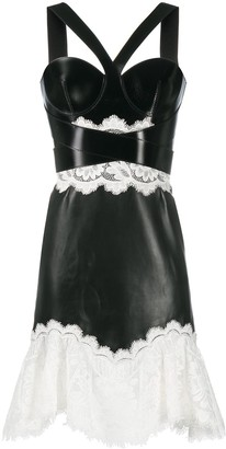 Alexander McQueen Lace Detail Short Dress