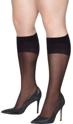 Hanes Womens Plus Size Curves Sheer Knee Highs Style-HSP020