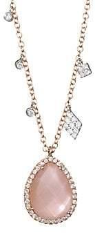 Meira T Women's Rose Quartz & Mother-Of-Pearl Pendant Necklace