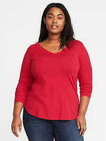 Old Navy Semi-Fitted Plus-Size Classic V-Neck Tee