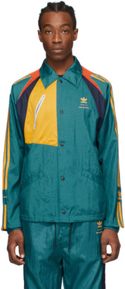 adidas BED J.W. FORD Green and Multicolor Edition Bench Jacket
