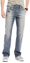 Buffalo David Bitton Six-X Distressed Straight-Fit Jeans