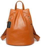 Greeniris Ladies Genuine Leather Rucksack Fashion Backpack for Women/Teenage Girls