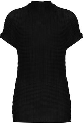 Issey Miyake High-Neck Textured Top