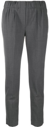 Brunello Cucinelli Mid-Rise Cropped Trousers