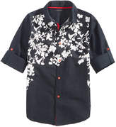 Sean John Floral-Print Cotton Shirt, Big Boys