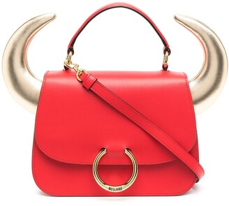 Moschino Bullchic horn-detailed tote bag