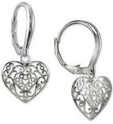 Giani Bernini Filigree Cut-Out Heart Drop Earrings in Sterling Silver, Created for Macy's
