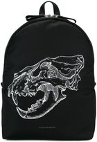 Alexander McQueen lion skull print backpack