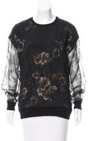 Jason Wu Floral & Lace-Accented Top