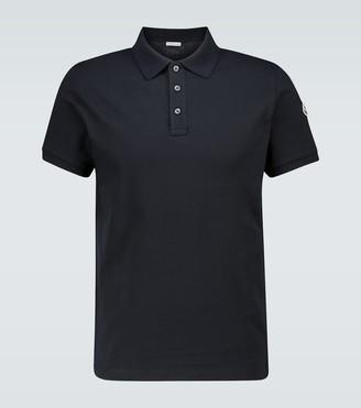 Moncler Cotton short-sleeved polo shirt