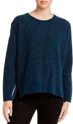 Eileen Fisher Speckled Organic-Cotton Crewneck Sweater