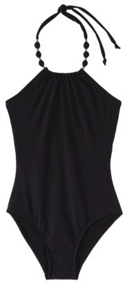 Sara Blakely ASSETS® By A Spanx® Brand Women's 1-Piece Swimsuit -Black