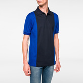 Paul Smith Men's Navy And Light-Blue Piece-Constructed Polo Shirt