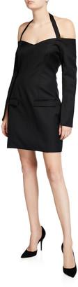 ANNA QUAN Nina Tailored Off-Shoulder Cocktail Dress