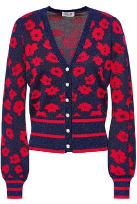 Baum und Pferdgarten Floral Jacquard-knit Cardigan
