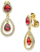Anne Klein Pear-Shaped Double Drop Clip-On Earrings