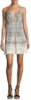 Haute Hippie Snakeskin-Print Slip Dress, Natural/Gray