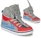 Feiyue DELTA MID ANIMAL Grey / Blue / Red