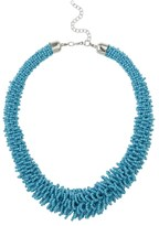 Apricot Aqua Beaded Statement Collar Necklace
