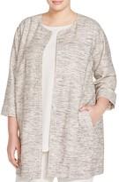 Eileen Fisher Plus Mélange Stretch-Cotton Jacket
