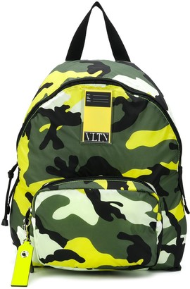 Valentino VLTN My Tag camouflage backpack