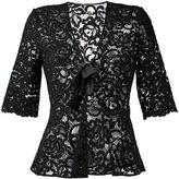 Saint Laurent sheer lace top - women - Silk/Cotton/Polyamide/Viscose - 36