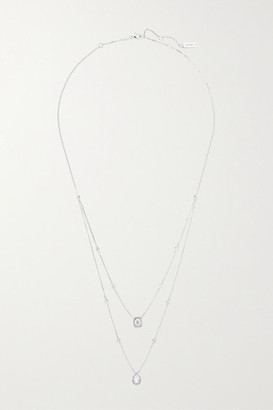 Messika My Twin 18-karat White Gold Diamond Necklace